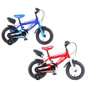 Bicicletta DEMON baby taglia 14 bici per bambini età 3 - 6 anni con borraccia