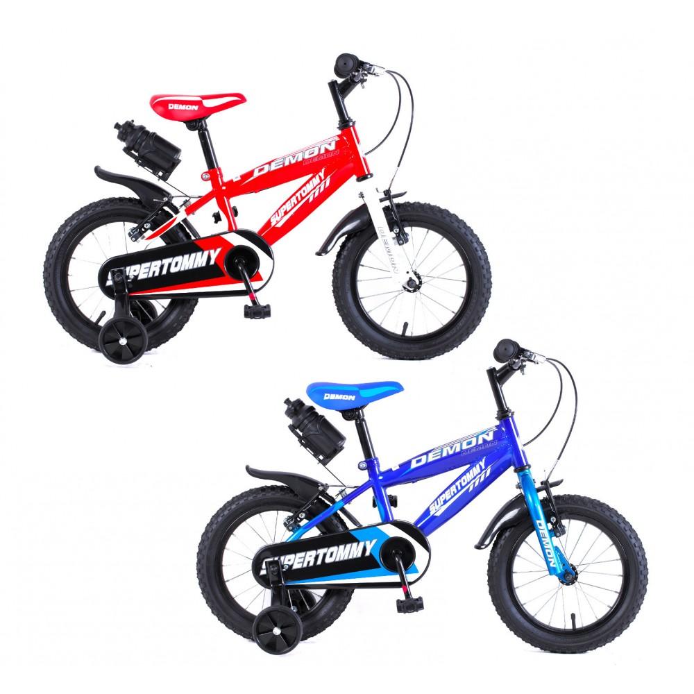Bicicletta DEMON baby taglia 16 bici per bambini età 4 - 7 anni con borraccia