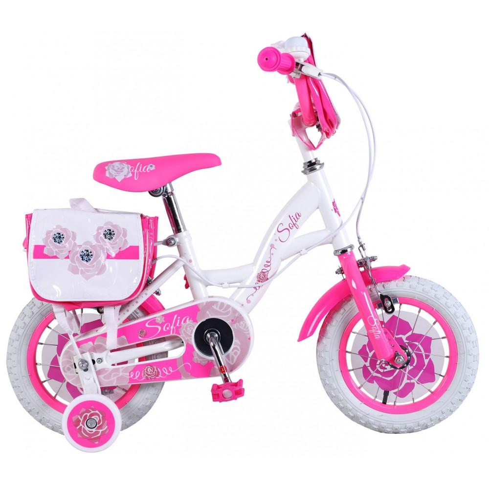 Bicicletta bambina misura 16 SOFIA telaio acciaio a sfera età 4 - 8 anni