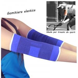 Coppia di 2 fasce elastiche per gomito gomitiera sollievo per infiammazioni ideale per sport