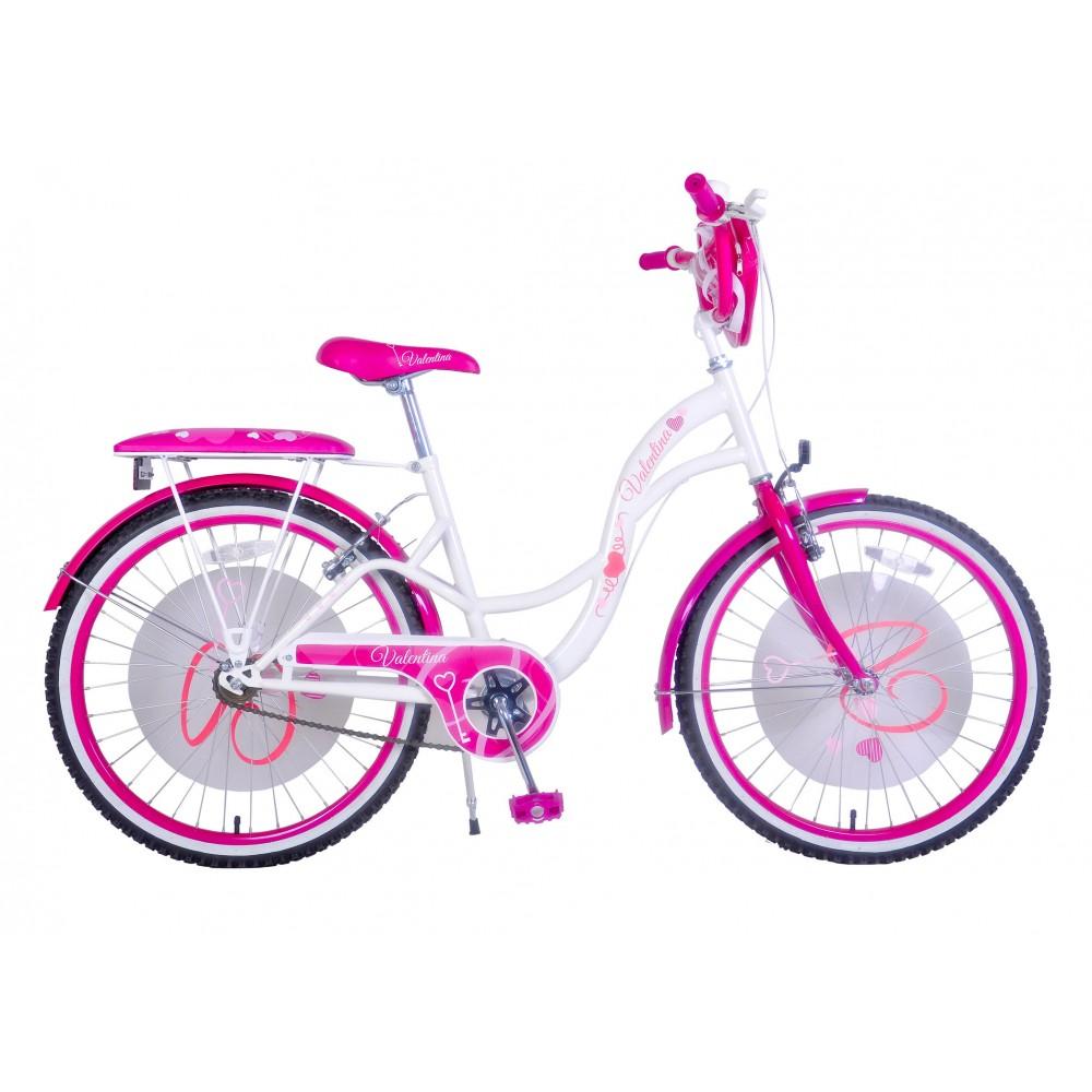 Bicicletta bambina misura 20 VALENTINA telaio acciaio a sfera età 6 - 10 anni