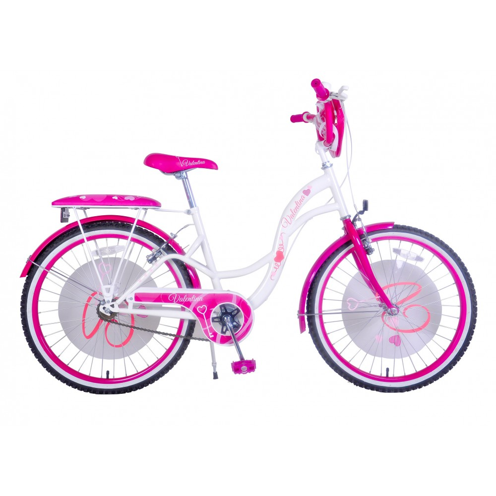 Bicicletta bambina misura 24 VALENTINA telaio acciaio a sfera età 9 - 13 anni