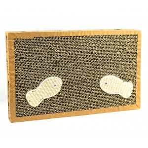 Tiragraffi NOBLEZA per gatti 026432 cartone pressato 38.2x23x4 cm FISHING Box