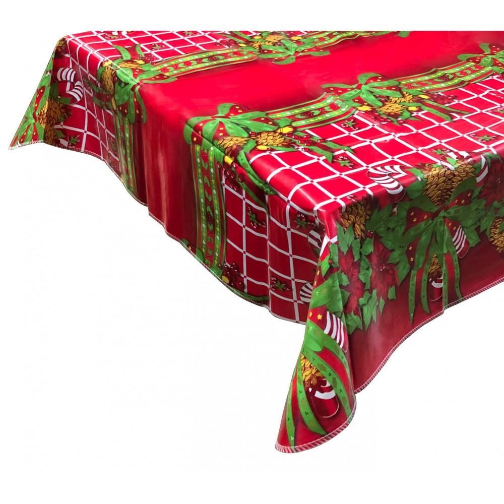 RED Nataluna Tovaglia Antimacchia 479032 impermeabile natalizia in PVC 120x240cm