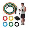 Set da allenamento e riabilitazione con fasce elastiche e cinghie 5 livelli