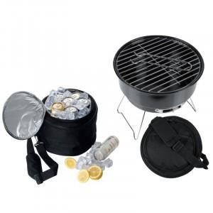 Image of Barbecue da viaggio con borsa termica e griglia viaggio camper 8435524505571