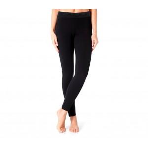 Leggings donna termico mod. ZERO GRADI nero interno in pelliccia senza cuciture