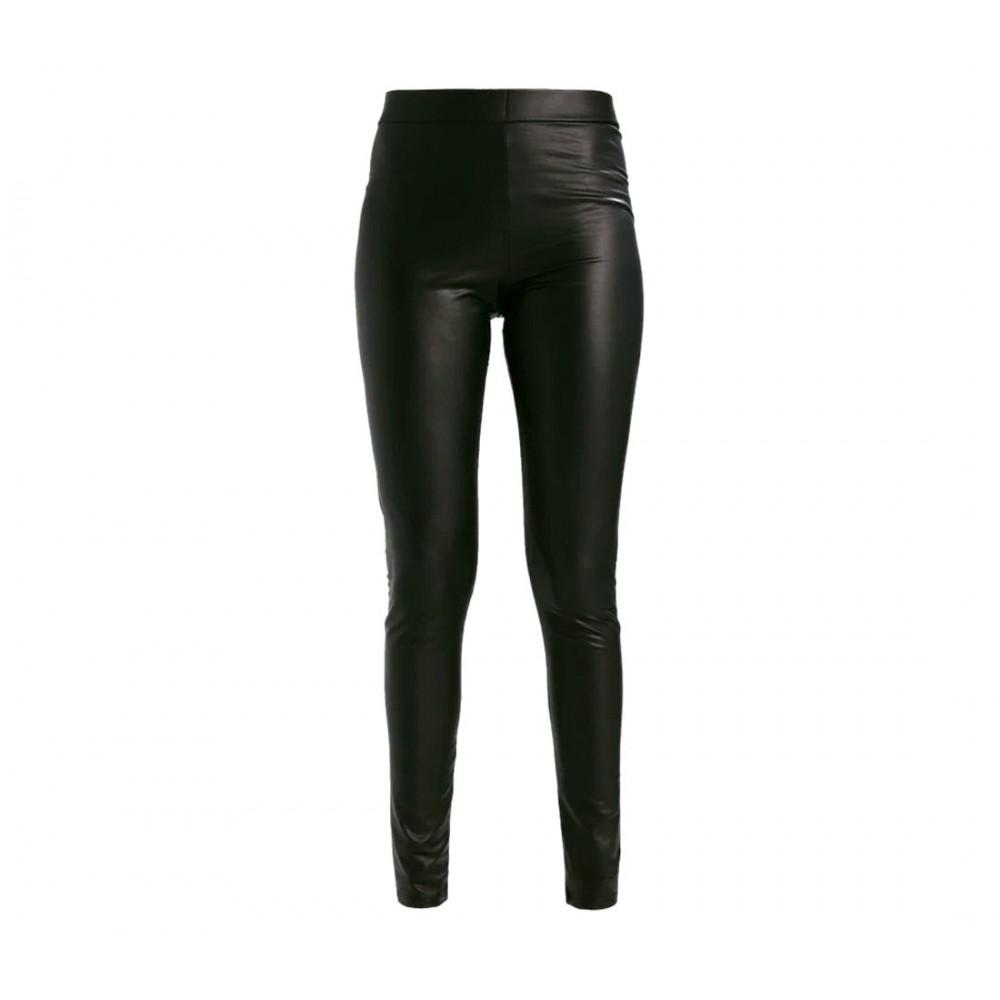Leggings donna termico SEXY WOMAN in pelle vita alta OV3302 mod. Yaten felpato
