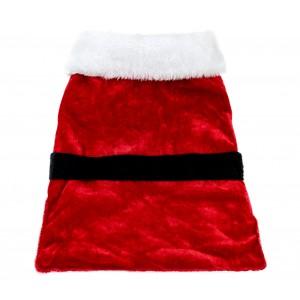 Vestito natalizio con fascia nera attacco a velcro per animali di piccola taglia