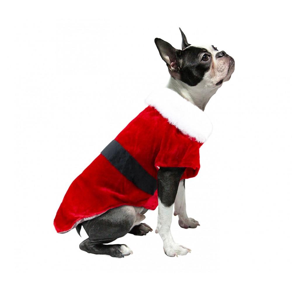 Vestito natalizio art. 6097 attacco a velcro e fascia per cani taglia piccola