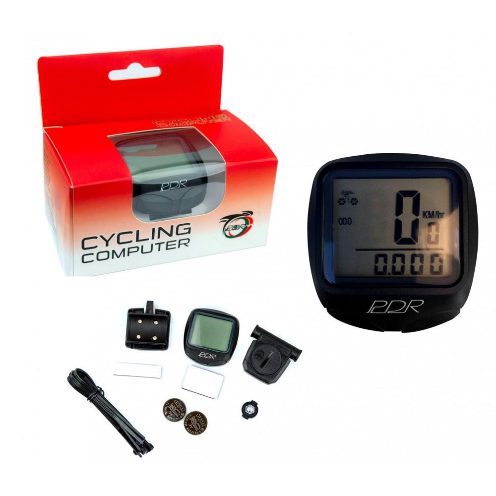 PDR Tachimetro ed Odometro con filo A13030G per Bici con 8 funzioni