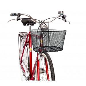 Cestino anteriore per biciclette con struttura a griglia in ferro mod. Wild