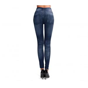 Leggings DHARMA effetto denim modello slim fit modellante in due colori felpato