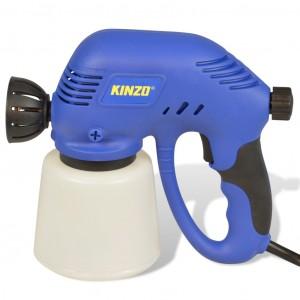 Pistola vernice spruzzatore aerografo a corrente 80 watt con serbatoio linea Kinzo