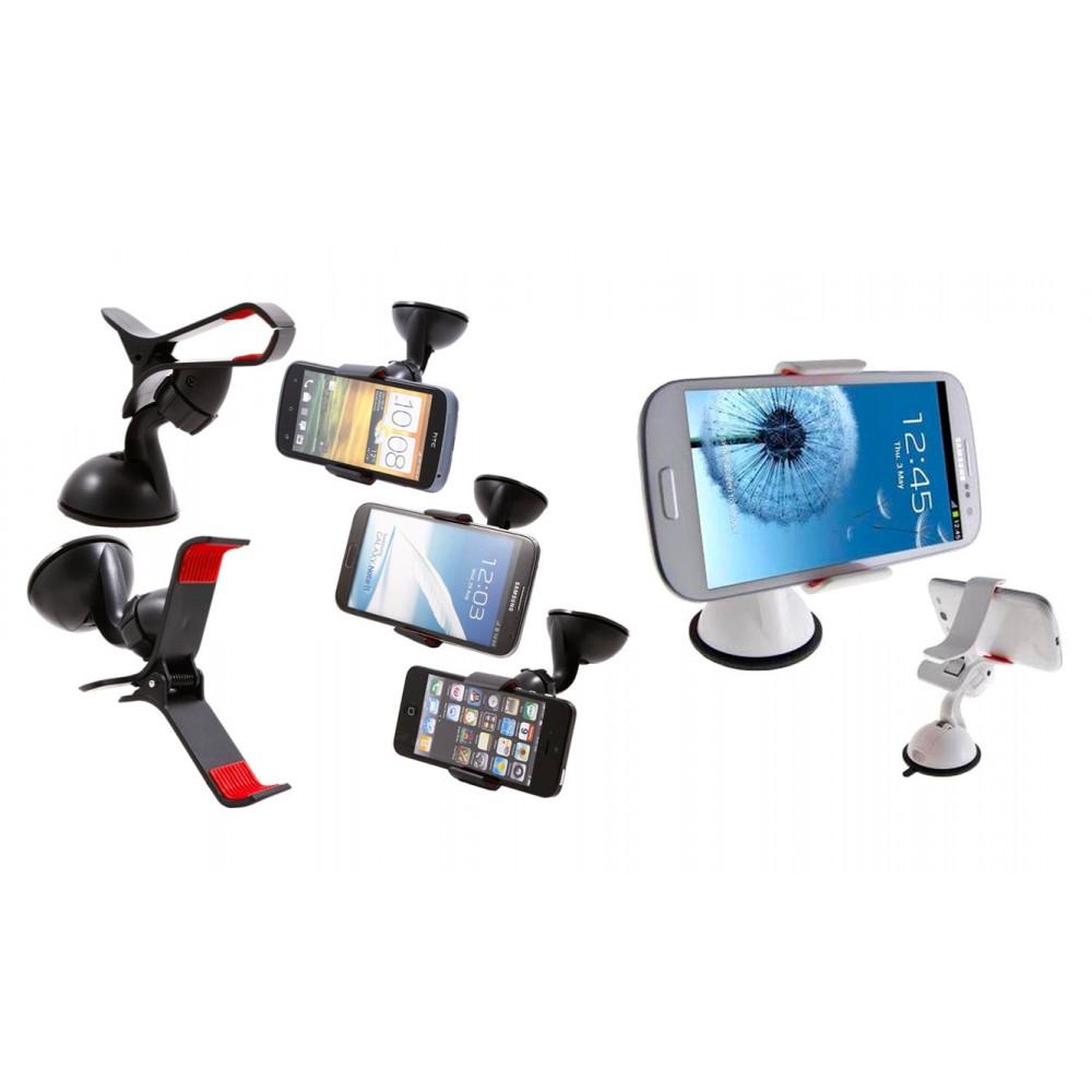 Supporto universale a pinza smartphone navigatori gps multifunzione
