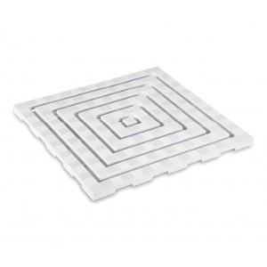 002014 Pedana da doccia in plastica con trama antiscivolo 60x60cm anti funghi