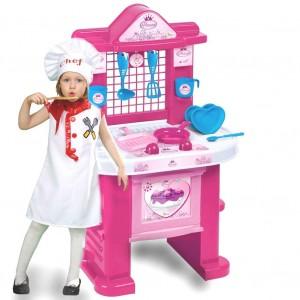 1552 Cucina Princess ChildKing playset con 10 utensili H72cm