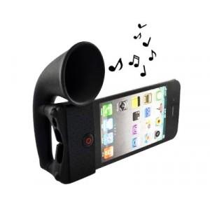 Image of Casse per iphone 5/5s 6/6s in silicone nero corno stand horn 797337289917