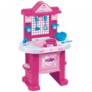 1552 Cucina Princess ChildKing playset con 10 utensili H72cm