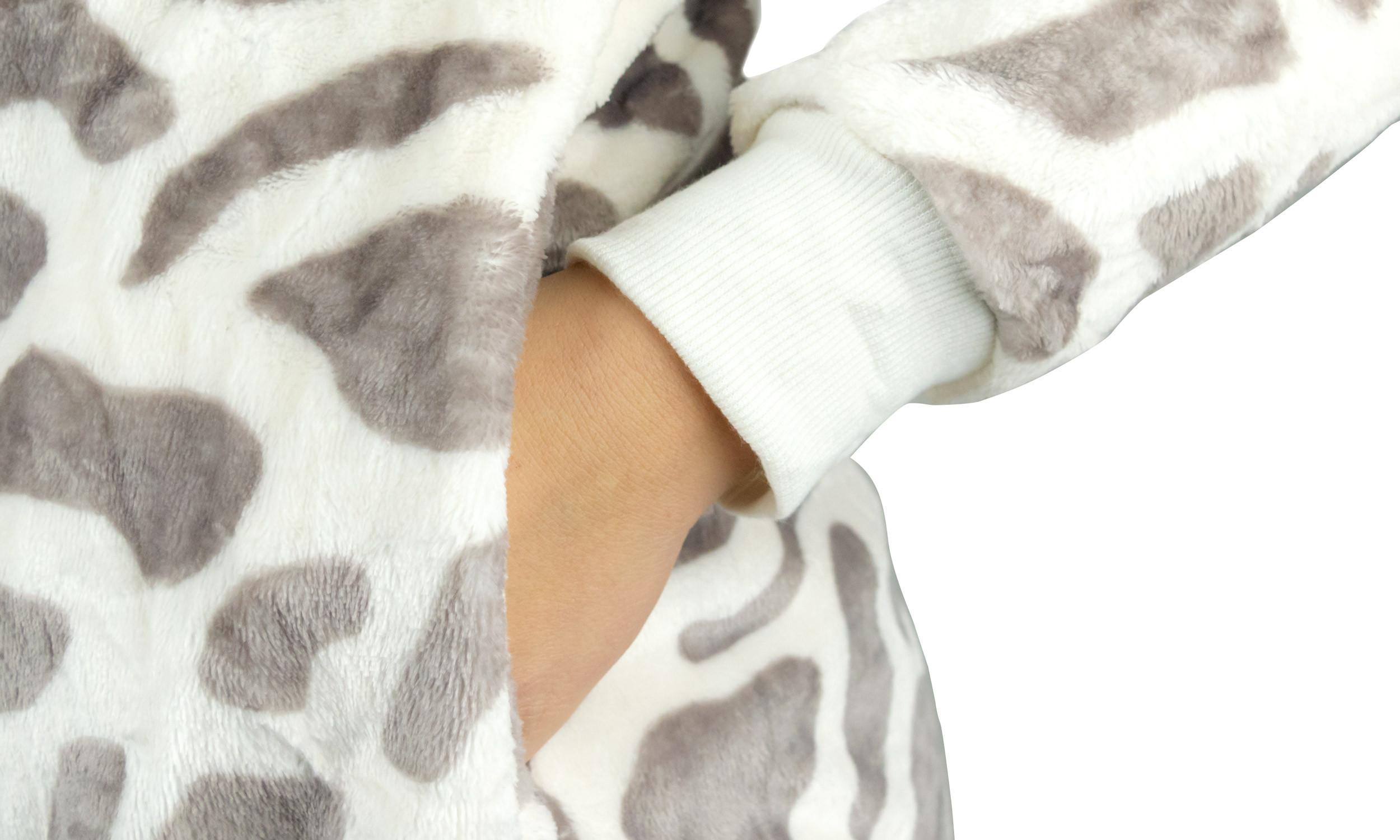 Mediawave Store Pigiama Intero Unisex Cosplay B1701 Animale a Tuta Felpato Canguro da XS a XXL