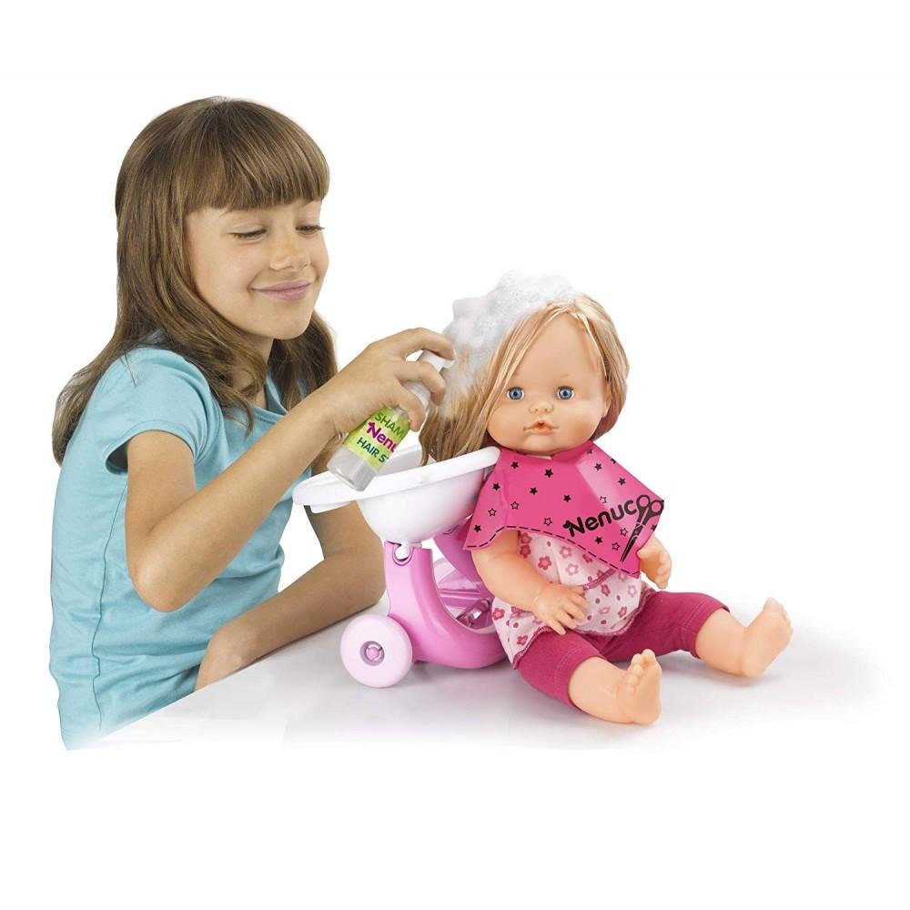 Famosa NENUCO bambola 7010856 lava pettina e acconcia i capelli con accessori
