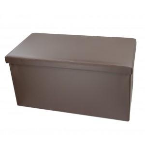 Pouf contenitore richiudibile imbottito con rivestimento in ecopelle in 5 colori