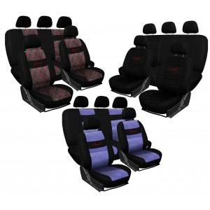Image of Set fodere auto universali JACQUARD CJ00 Xone cotone e poliestere 12 pz con zip 8435524539057