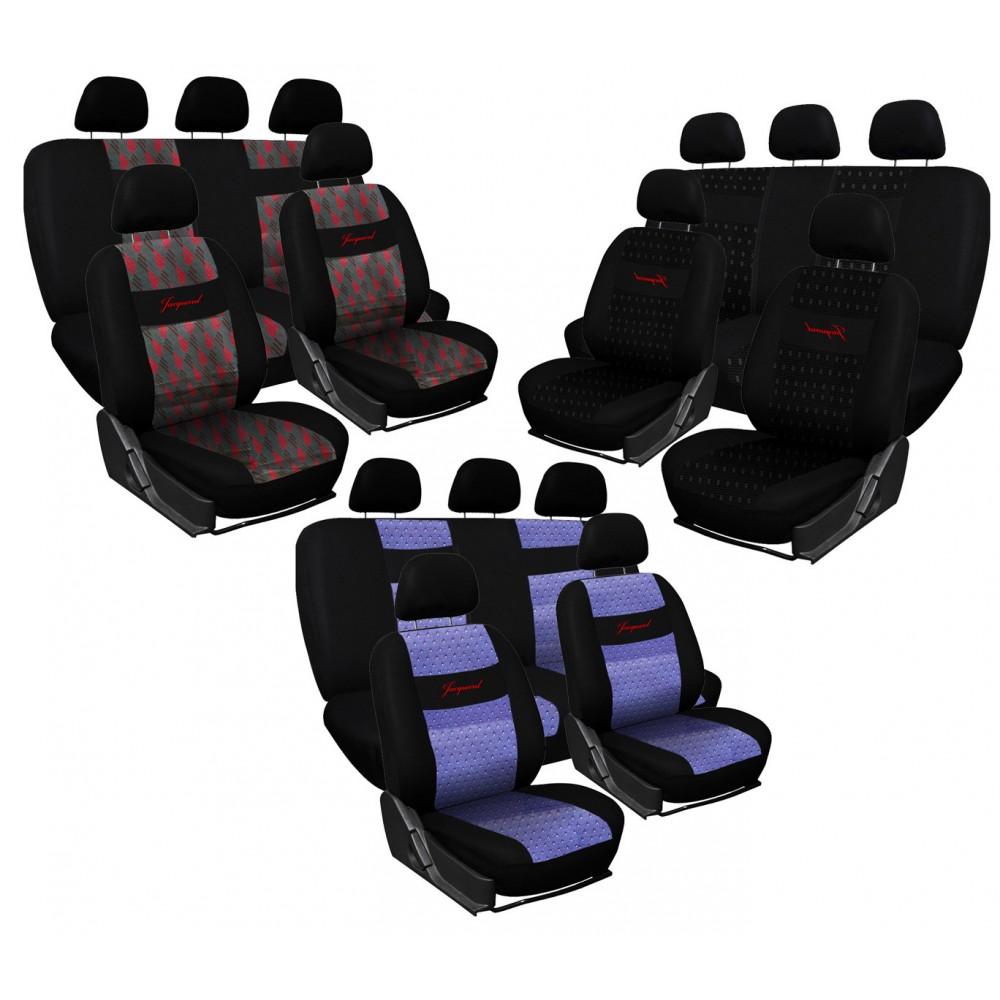 Set fodere auto universali JACQUARD CJ00 Xone cotone e poliestere 12 pz con zip
