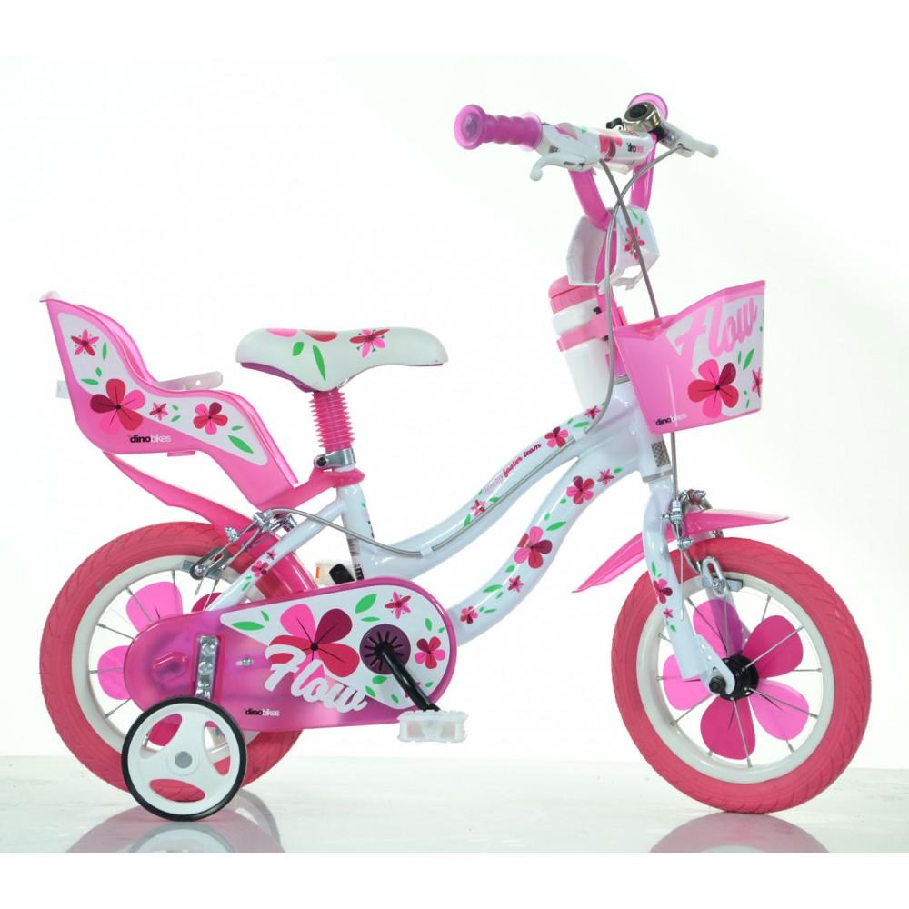 Bicicletta DINO BIKE FLOW taglia 12 bici per bambina 512 età 3-4 anni 2 colori