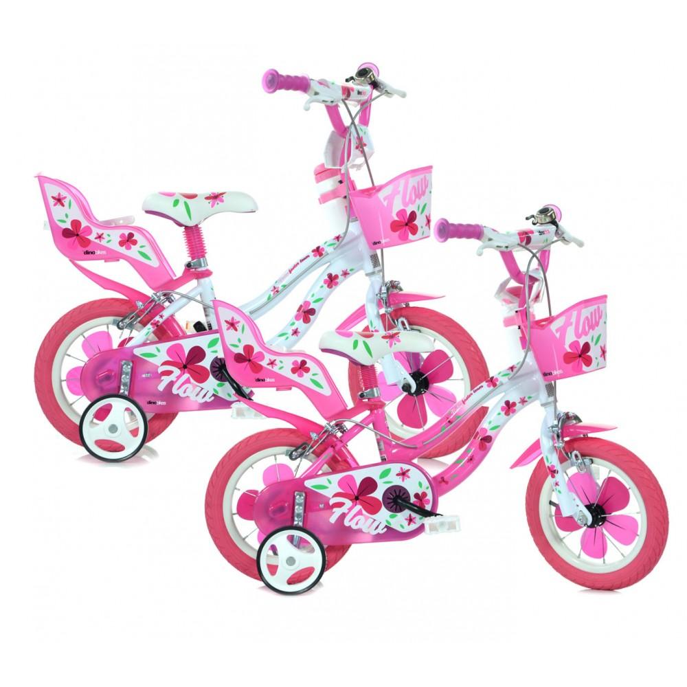 Bicicletta DINO BIKES FLOW taglia 12 bici bambina telaio acciaio età 3 - 4 anni