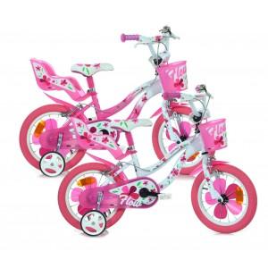 Bicicletta bambina DINO BIKE 514 FLOW misura 14 telaio acciaio età 3 - 6 anni