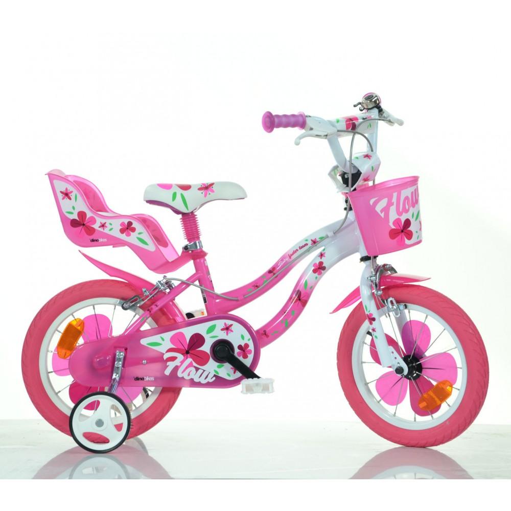 Bicicletta Bambina Dino Bike 514 Flow Misura 14 Telaio Acciaio Età 3