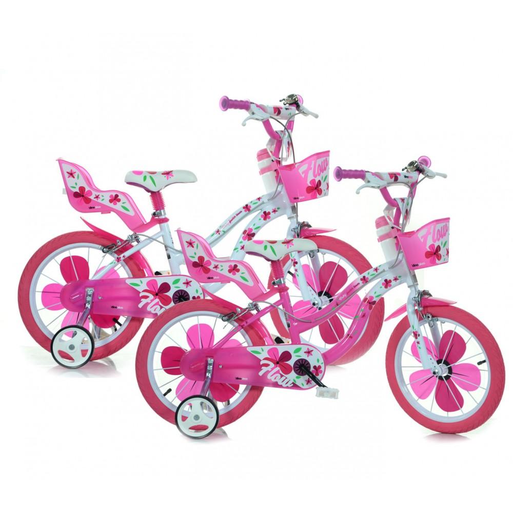 Bicicletta Bambina Dino Bike 516 Flow Misura 16 Telaio Acciaio Età 4 8