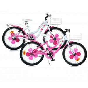 Bicicletta 520 DINO BIKES FLOW misura 20 con cestino anteriore ruote alte
