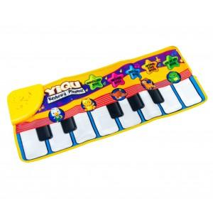 102193 Il tappetino Pianino tappeto gioco musicale per bambini 71x29cm Tastiera