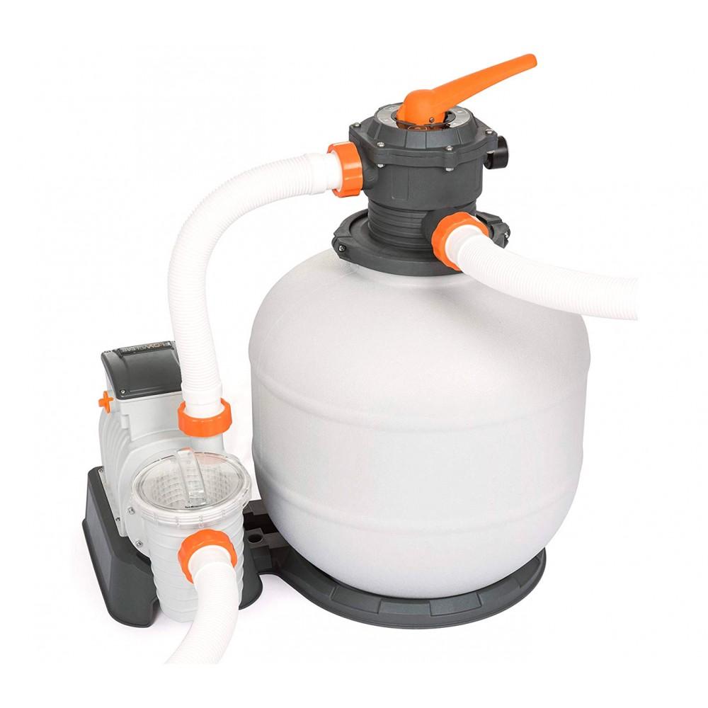 Pompa di filtraggio BESTWAY 58499 a sabbia per piscina flowclear 7.571 l/h