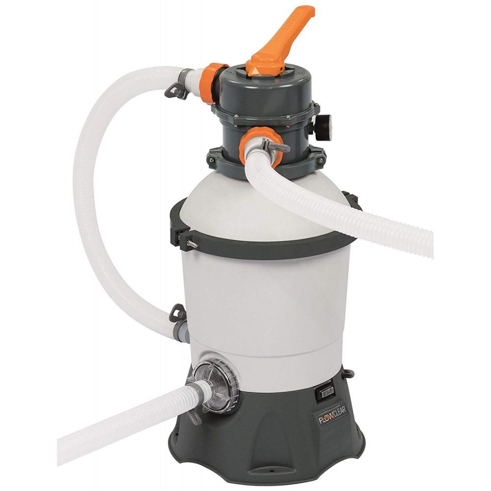 Pompa di filtraggio BESTWAY 58515 a sabbia per piscina flowclear 2.006 l/h
