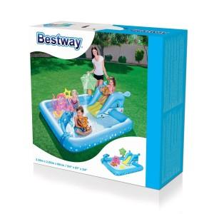 Play center BESTWAY 53052 acquario con spruzzi cm.239x206x86 con anelli gonfiabi