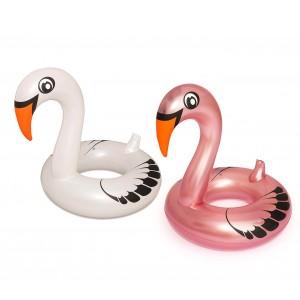 Salvagente BESTWAY 36124 a forma di cigno cm.165x117 due colori bianco e rosa