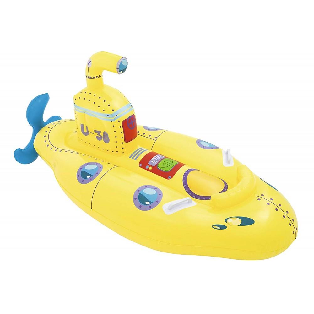Cavalcabile BESTWAY  41098 Sottomarino giallo  cm.165x86 con maniglie e oblò