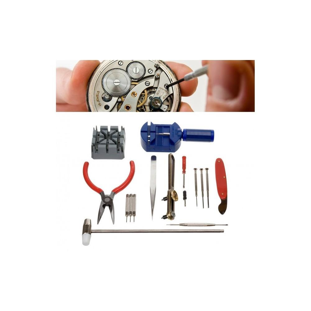Kit riparazione orologio 16 pz cassa maglia batteria