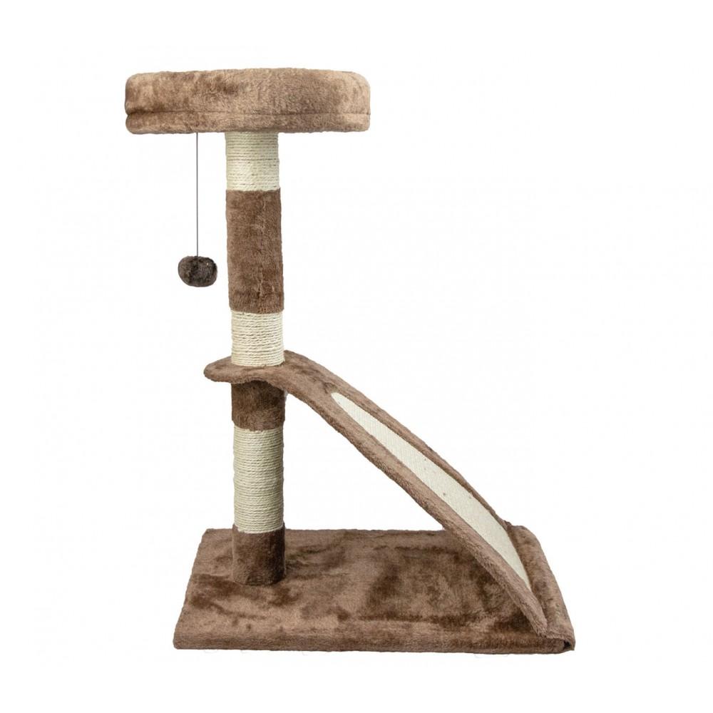 Tiragraffi NOBLEZA Albero gatti 033881 con corda e pallina a 2 piani 50x35x72cm