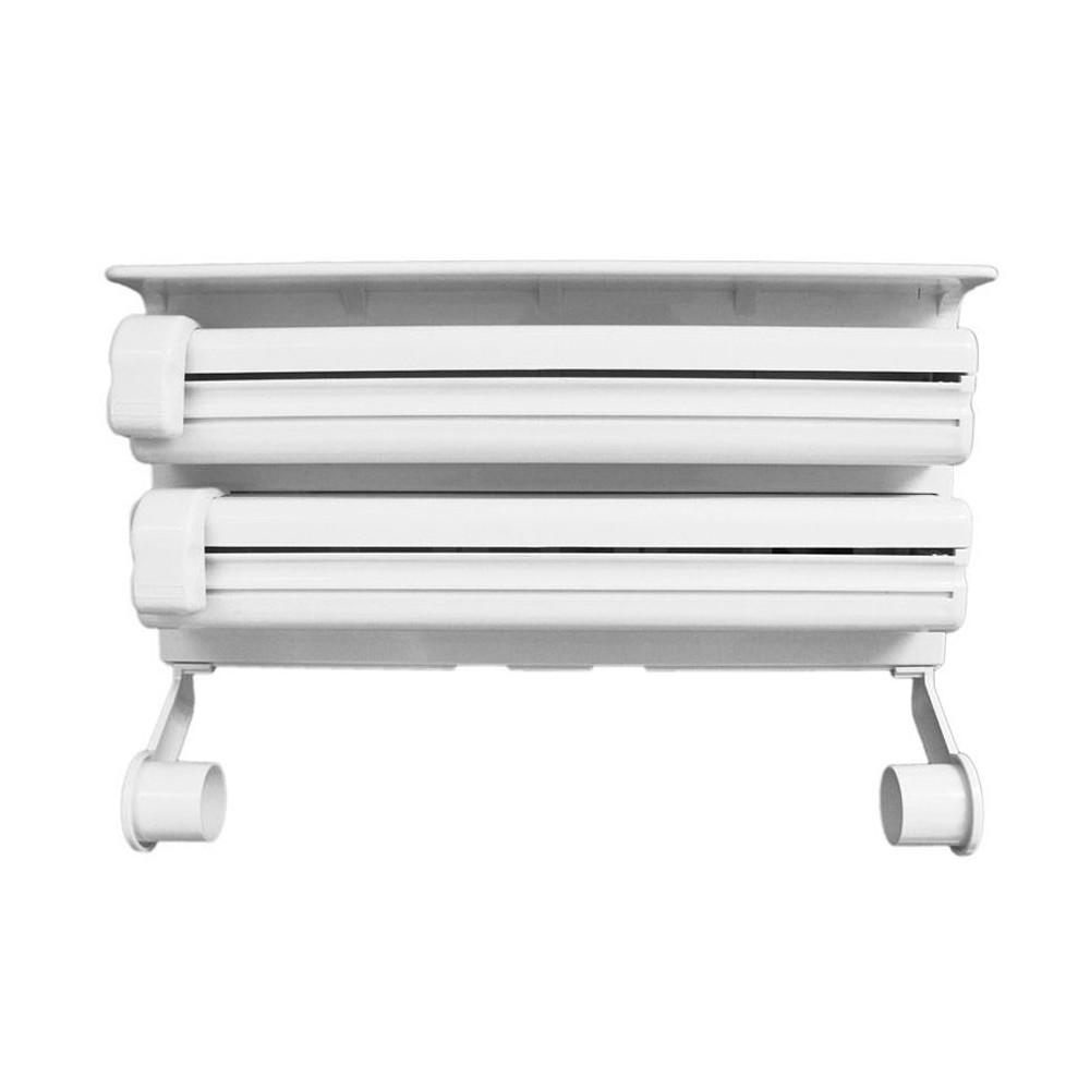 Dispenser TRIPLE 870592 da parete alluminio pellicola carta e spezie BIANCO