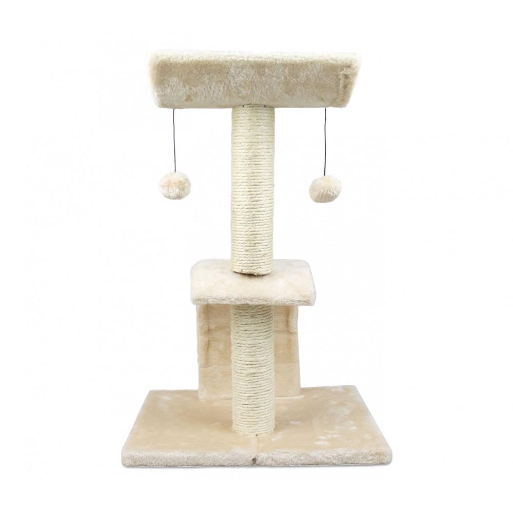 Tiragraffi NOBLEZA 033829 Albero del Gatto 2 piani con cuccia 41x35x60 cm