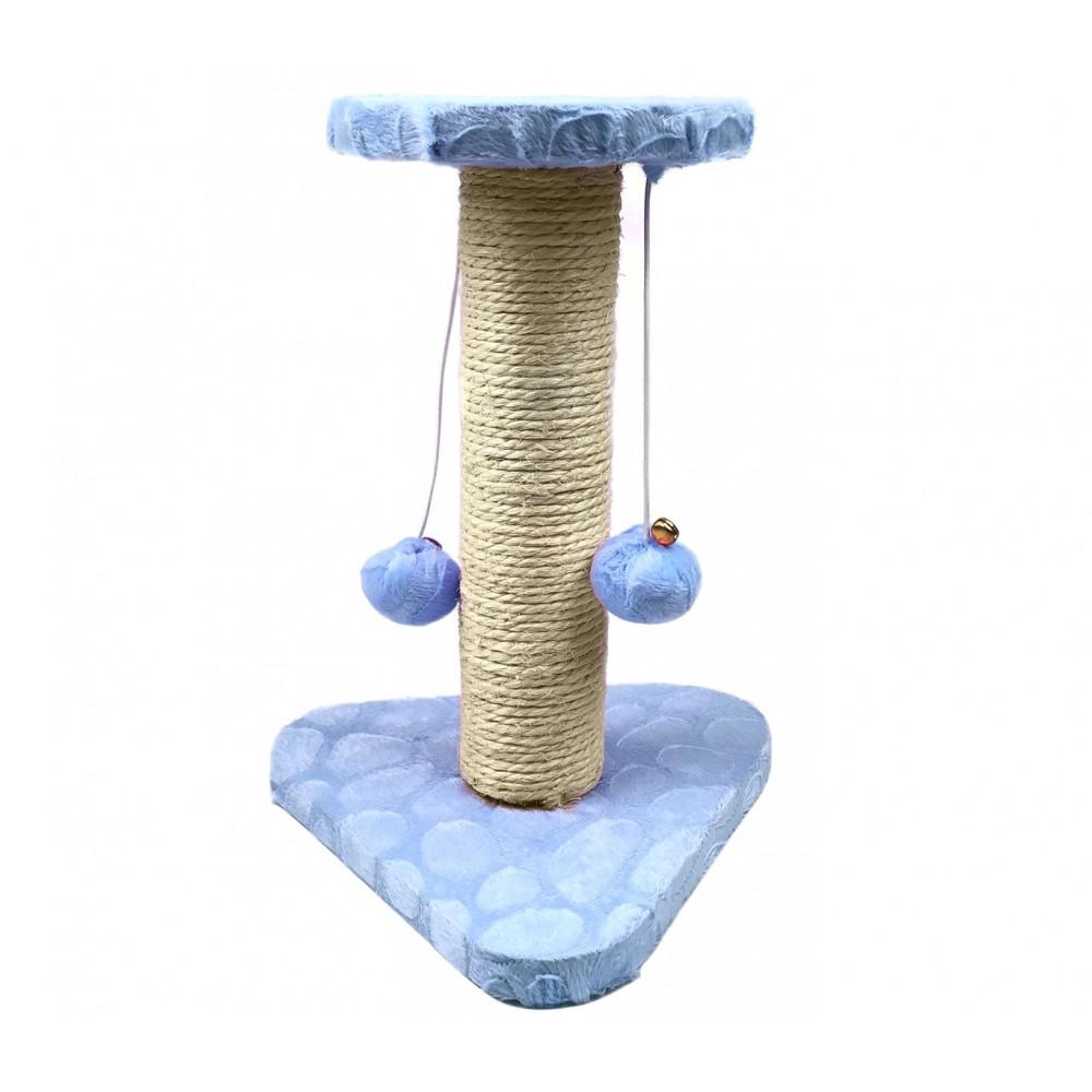 Tiragraffi NOBLEZA 000128 Azzurro colonna in Sisal palline e sonagli 22x20x28 cm