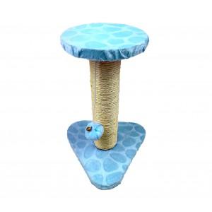 000128 Tiragraffi Nobleza Azzurro colonna in Sisal palline e sonagli 22x20x28cm