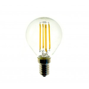 Lampadina STARKEN minisfera 2W filamento LED G45 GLED1266 Luce calda 2900K E14