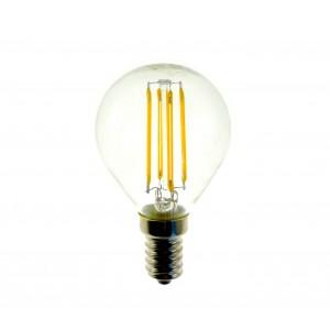 Lampadina GLED1265 G45 STARKEN minisfera 3W filamento LED Luce natural 4200K E14