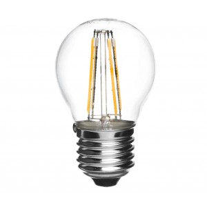 Lampadina GLED1263 G45 STARKEN minisfera 3W filamento LED Luce natural 4200K E27