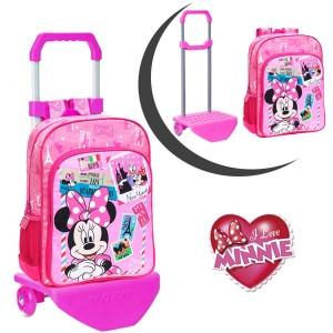 Image of 40723M1 Zaino scuola carrellino Minnie & Daisy trolley Disney Junior 30 x 40 x 16 cm 8010000300439